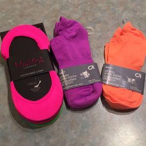 Gap and MeMoi neon socks.